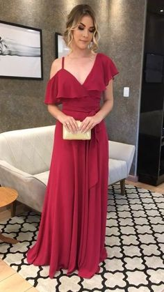 Custom Made Simple Charming Long Beautiful Prom Dress 97025c21251