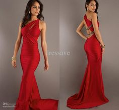 Wholesale Evening Dresses - Buy 2014 New Elegant Women's Prom Dresses One Shoulder Scalloped Collar Sexy Ruffle Prom Gowns Court Train BO172...