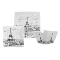 Have to have a couple of these!Eiffel Tower Dinnerware Pieces - Bed Bath & Beyond