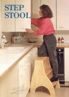 3242-Kitchen Step Stool Plans