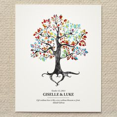 Rustic Woodland Tree Wedding Poster / Sign by AmyAdamsPrintables