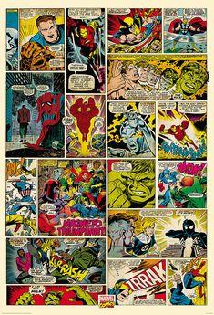 Comic Book Wall Murals marvel comic book xl wall mural 9 x 15 - kids wall decor store