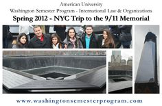 Students took a trip to New York City to see the 9/11 Memorial.