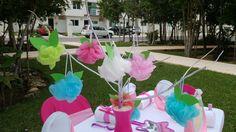 centros de mesa spa party