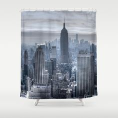 New York skyscrapers Shower Curtain