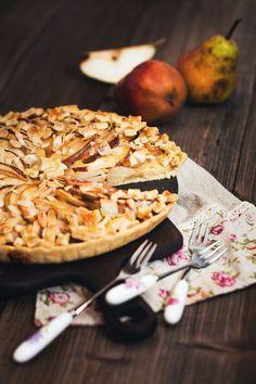 Hruškový koláč se skořicovým krémem Cereal, Dairy, Treats, Cheese, Baking, Breakfast, Cake, Sweet, Food