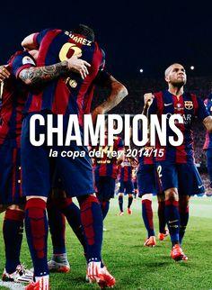 Congratulations to FC Barcelona for winning the La Copa del Rey title 14/15!
