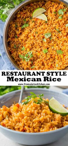 Little bits of soft cooked potato and carrot set this Restaurant Style Mexican Rice apart from the others Light fluffy and perfectly seasoned just like at our favorite Mexican restaurant mexicanrice rice mexicanfood sidedishrecipes Mexican Rice Recipe Restaurant Style, Mexican Rice Recipes, Rice Recipes For Dinner, Mexican Cooking, Mexican Dishes, Vegetarian Recipes, Cooking Recipes, Vegetarian Mexican Rice, Mexican Seasoned Rice Recipe