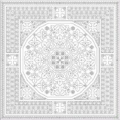 Several very nice free intricate patterns Blackwork Cross Stitch, Blackwork Embroidery, Cross Stitching, Cross Stitch Embroidery, Embroidery Patterns, Cross Stitch Patterns, Blackwork Patterns, Needlepoint, Black Work