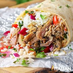 Chipotle Copycat Slow Cooker Pork Carnitas are a luscious slow cooked pork that is so soft and juicy, they melt in your mouth. Traditional Mexican cuisine would have you standing over a stove for hours, but who has that kind of time? This simple recipe is perfectly seasoned and creates a tender meat with robust flavors.