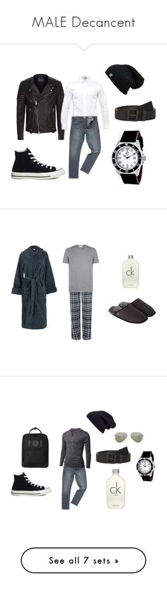 """MALE Decancent"" by decadentme on Polyvore featuring AllSaints, Ted Baker, HUGO, Converse, Shield, Calvin Klein, men's fashion, menswear, Just Sheepskin and Emporio Armani"