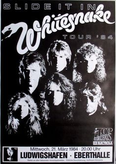 :) Poster from The Ross Halfin Collection. Rock N Roll, Rock & Pop, Heavy Metal, Rock Posters, Band Posters, Music Posters, Whitesnake Band, Hard Rock, Classic Rock Bands