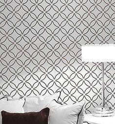 Wall Stencil Fuji, DIY reusable stencil for walls instead of wallpaper
