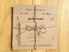 Vintage Wedding Stationery. Another new wedding invitation range for 2016. Perfect for vintage and woodland themed weddings. Shop online at www.daisychaininvites.co.uk