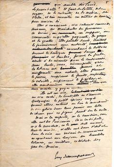 MAUPASSANT manuscrit Les Servantes