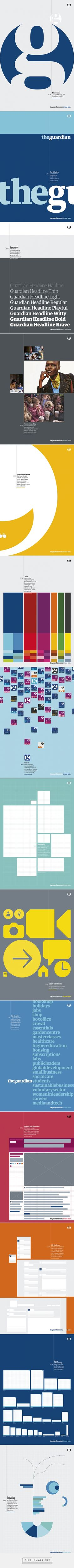 The Guardian's newly released brand guidelines by Guardian design team