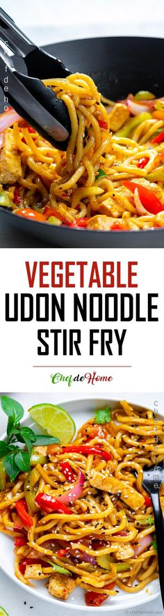The best stir fry noodles with tofu oyster sauce and udon noodles. Perfect for takeout style dinner at home. Bring your favorite protein, add my simple bold flavor stir fry sauce with udon noodles for a yummy dinner in 20 minutes. Fried Noodles Recipe, Stir Fry Noodles, Udon Noodles, Stir Fry Recipes, Noodle Recipes, Beef Recipes, Real Food Recipes, Caramel Recipes, Asian Recipes