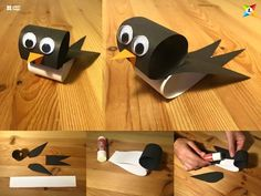 Easy Paper Magic Animal Craft Ideas For Kids Step By Step with Popular Easy Paper Crafts Ideas Easy Paper Magic … Bird Crafts, Animal Crafts, Recycled Crafts, Paper Roll Crafts, Paper Crafts For Kids, Paper Crafting, Diy Diapers, Paper Magic, Paper Birds
