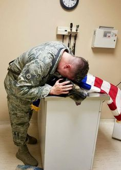 Soldier Stays By His Dying Dog's Side Until The Very End