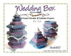 Beaded Hexagonal Box Beading Tutorial WEDDING BOX. $25.00, via Etsy.