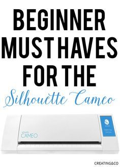 This is a great list of Silhouette beginner must haves. Read this before wasting your money on supplies you don't need!