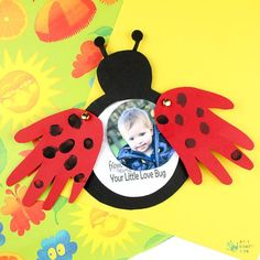 Make a Love Bug Handprint Card this Valentine's Day or Mother's Day. A gorgeous ladybug handprint craft that will be treasured for years to come.