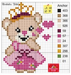 Cross Stitch Baby, Cross Stitch Animals, Valentine Gift Baskets, Valentine Gifts, Baby Sheets, Mini Mouse, Plastic Canvas, Alice, Teddy Bear