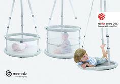 """Die multisensorischeHängewiege Memola gewinnt beim diesjährigen Red Dot Design Award Wettbewerb 2017 in der Kategorie Produktdesign  die Auszeichnung """"Honourable Mention"""". Baby, Product Design, Newborn Babies, Infant, Baby Baby, Doll, Babies, Infants, Child"""
