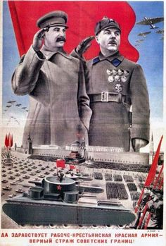 Wee Blue Coo Propaganda Political Soviet Union Stalin Military Red Army Parade Unframed Wall Art Print Poster Home Decor Premium Ww2 Posters, Political Posters, Retro Poster, Vintage Posters, Vintage Ads, Les Aliens, Ww2 Propaganda, Socialist Realism, Soviet Art