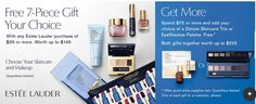 Estee Lauder gift with purchase - 7 pcs with $35 purchase + more