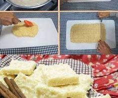 Receita de Cocada de leite condensado facil de fazer  - Ingredientes 500 g de coco fresco ralado 1 lata de leite condensado 2 latas de açúcar (use a lata de leite condensado vazia para medir) 1 colher (sopa) de manteiga  Modo de preparo:  Em uma panela, coloque os ingredientes e leve ao fogo médio, mexendo até soltar da panela. Retire do fogo e coloque em uma superfície lisa e untada. Alise com uma espátula e deixe esfriar. Corte em pedaços e sirva. Dica se desejar regue com leite…