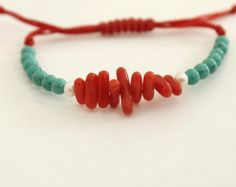 Shop for friendships macrame on Etsy, the place to express your creativity through the buying and selling of handmade and vintage goods. Summer Bracelets, Simple Bracelets, Bohemian Bracelets, Beaded Bracelets, Coral Bracelet, Bracelet Crafts, Jewelry Patterns, Friendship Bracelets, Gemstone Jewelry