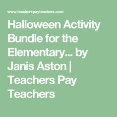 Halloween Activity Bundle for the Elementary. by Janis Aston Music Class, Elementary Music, Halloween Activities, Your Music, My Teacher, Student, Holidays, Holidays Events, Holiday