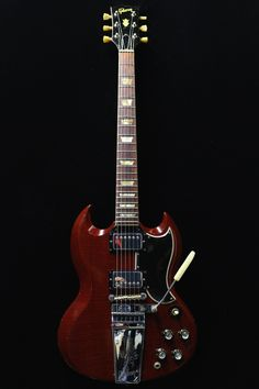 This is a beautifull 1966 Gibson SG Standard Maestro and its original Hardcase. It plays like a dream and sound. Sg Guitar, Learn Guitar Chords, Music Guitar, Guitar Amp, Cool Guitar, Fender Telecaster, Epiphone Sg, Eric Clapton, Vintage Les Paul