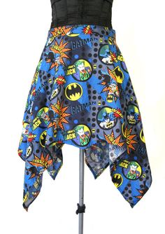 Hey, I found this really awesome Etsy listing at https://www.etsy.com/listing/174915023/blue-batman-skirt