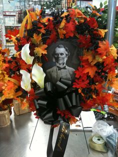 Halloween floral arrangement perfect for a graveyard display! Awesome design!