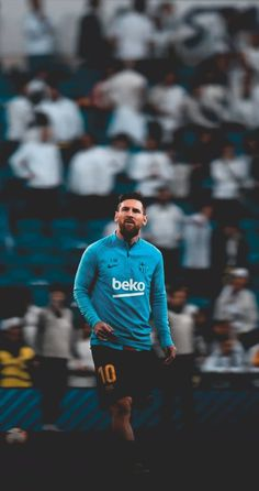 In the ocean of White. He stands tall. Football Player Messi, Messi Soccer, Messi 10, Football Fans, Lionel Messi Barcelona, Barcelona Team, Barcelona Football, Fc Barcelona Wallpapers, Cr7 Junior