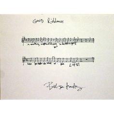 The original score written by Billie Joe Armstrong's fair hand...
