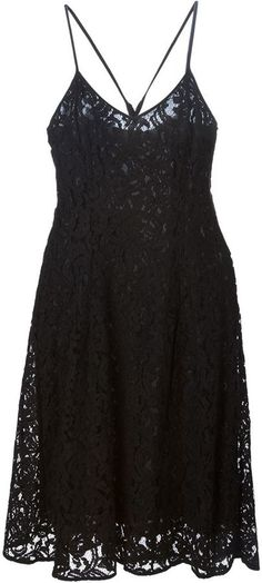 $142, MICHAEL Michael Kors Michl Michl Kors Flared Lace Dress. Sold by farfetch.com. Click for more info: https://lookastic.com/women/shop_items/275255/redirect
