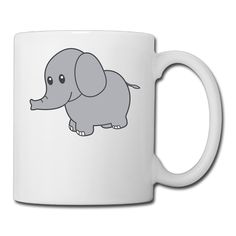 White Cute-elephant Ceramic Tea Cup 11oz Unisex Printed On Both Sides *** Awesome cat product. Click the image : Cat mug