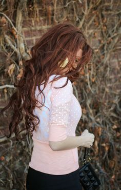 The Freckled Fox : Outfits / Fashion. Cute cardi. Love the lace back.