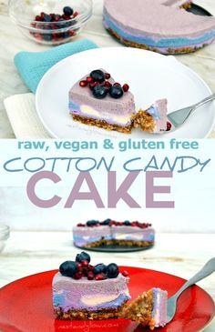 This dairy free, raw, vegan cotton candy cashew cheesecake is colourful and easy to make. All the colourings are natural and organic. via @nestandglow