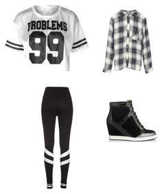 """""""KC Undercover Look"""" by nataliealexis03 ❤ liked on Polyvore featuring Jimmy Choo and Rails"""