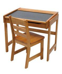 Another great find on #zulily! Pecan Kid's Chalkboard Desk & Chair #zulilyfinds
