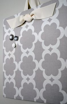 Cookie sheet + fabric = magnetic board. Love | http://doityourselfcollections.blogspot.com