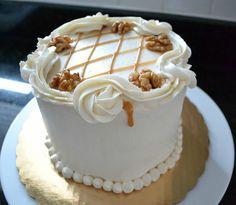 Maple Walnut Cake with Salted Maple Caramel