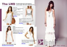 How to wear a little white dress.  The little white dress is perfect for summer.  See our favourite styles for your body shape. View your body shape board to buy. http://life-styler.com.au/fashion-new-trends/how-to-wear-the-little-white-dress/   #stylisttips #stylist #thelittlewhitedress #lwd #styleme #stylemepretty #summerfashion #sydneyfashion