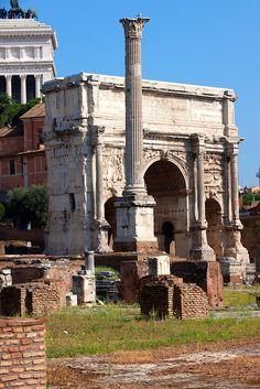 The Arch of Septmius Severus (AD203) The Forum, Rome