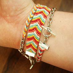DIY - Chevron friendship bracelet   By Wilma