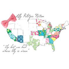 notice that all the southern states are lilly-ified. proving my point that southern girls have style and class
